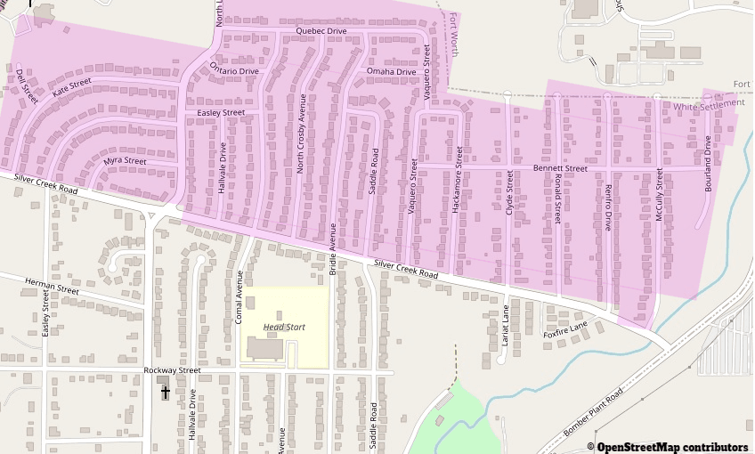 map of north side of town