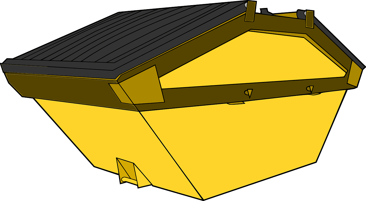 yellow dumpster