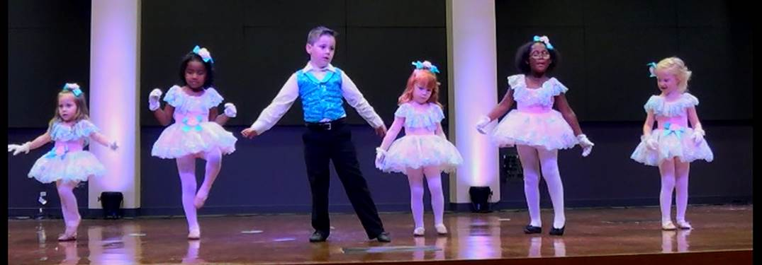 Boy and girl dancers on stage