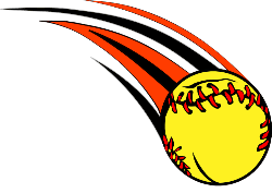 drawing of a softball