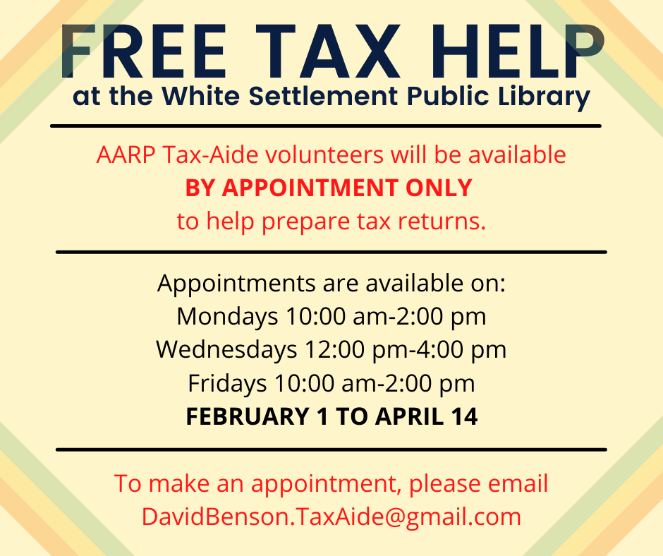 flyer for free tax assistance