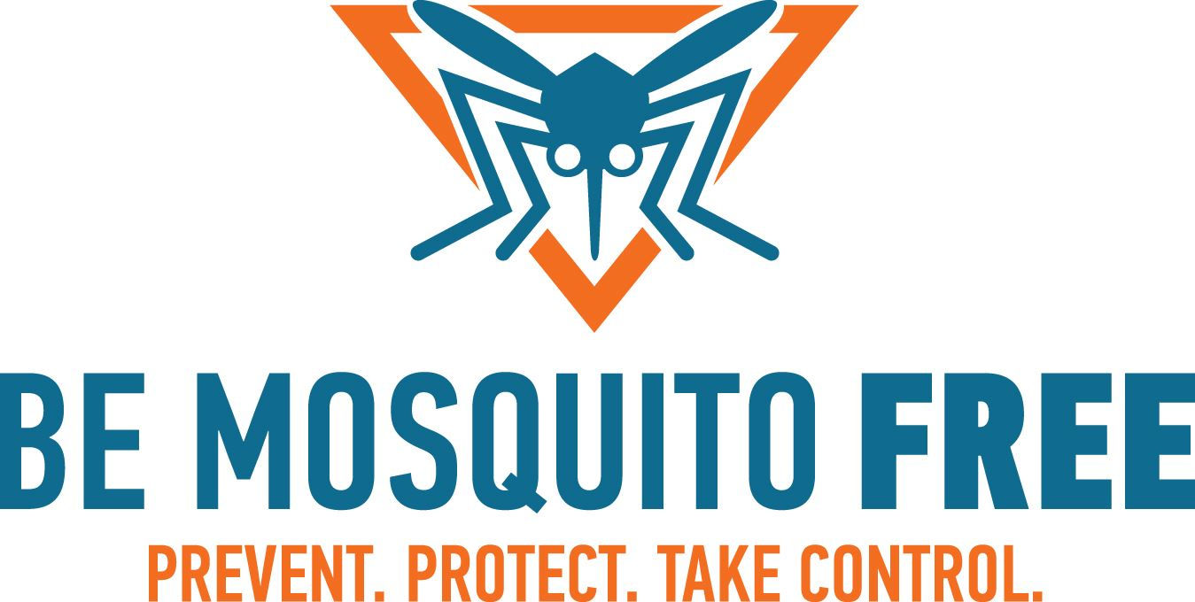 picture of a mosquito with the tag line Be Mosquito Free
