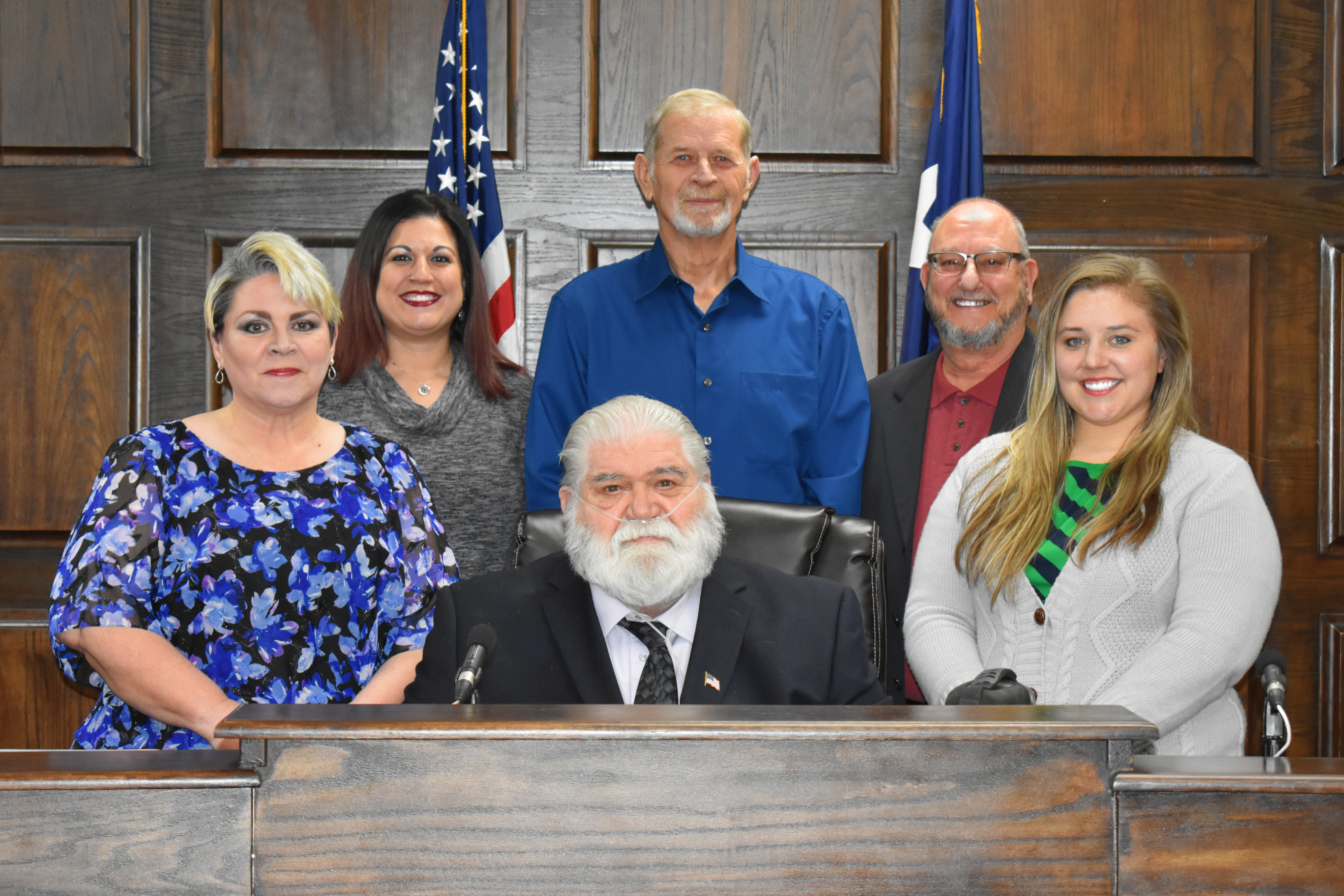 white settlement elected officials in the city coucil chamber